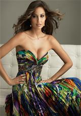 2011 Night Moves Homecoming 6260.  Available in Animal Multi Print