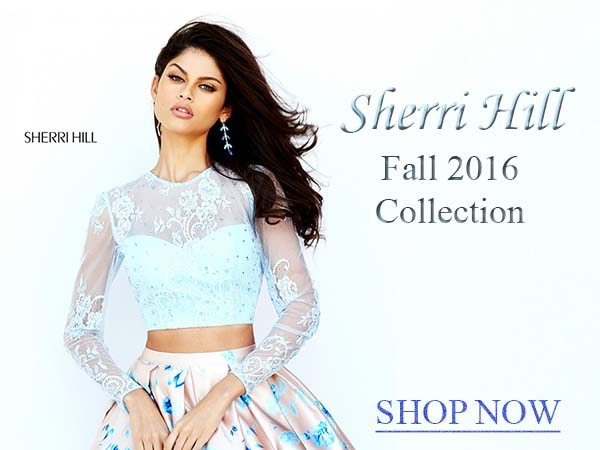Shop Sherri Hill homecoming dresses at Prom Dress Shop